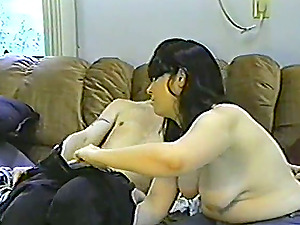 Chubby unexperienced dark haired hops on a man sausage after having 69 oral hook-up