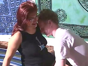 Chubby sandy-haired gets her snatch finger-tickled and drilled rear end style