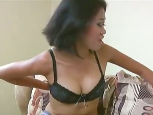 This Asian chick has some adorable natural tits and she is railing her man cowgirl