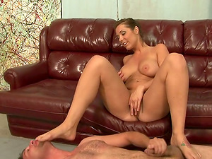 Big tittied Beverly Hills gets her sexy feet ate