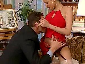 Dark-haired Takes Dick In Steamy Erotica Scene