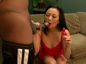 Petite Lucky Starlet gets her Asian snatch fucked by Black stud