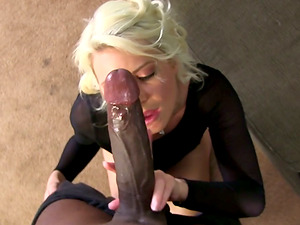 Big Black Jizz-shotgun For Hot Booty Blonde In High Stilettos