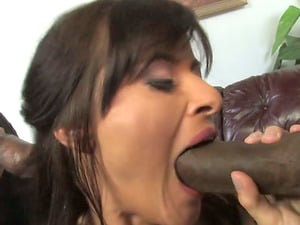 Cecilia Vega deep-throats a Big black cock while getting her butt pounded from behind
