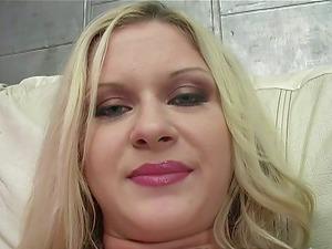 Chesty Blonde Gets Amazing Gang-fuck Anal invasion Lovemaking Few Guys