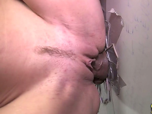 She Uses Her Mouth and Twat For this Gloryhole Hookup