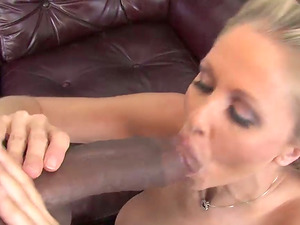 Tit fuck and some vaginal in an interracial with Julia Ann