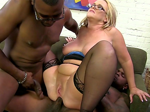 Huge-titted Cougar Gets Group-fucked And Drilled In Her Ass fucking Fuckhole