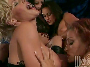 Some hot lezzie honeys are getting wild in this flick and there's a lot of anxious tongues