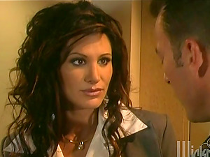 Stunning Sydnee Steele has spunky romp in her office