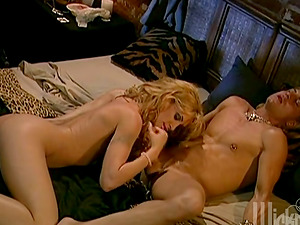 Blonde with Big Tits Lets Her Chief Jizz In Her Mouth