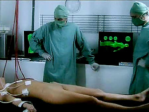 Blonde Chick Masturbates While On Operating Table