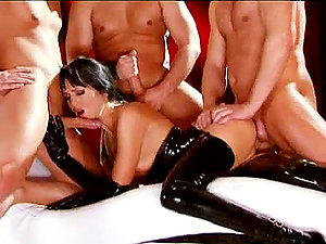 Dark Haired Whore Loves To Take A Few At The Same Time