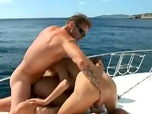 Greatest Blonde and Black-haired Outdoors Threesome