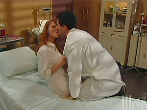 Sexy nurse Mandi Frost gets insane with a medic in a hospital ward