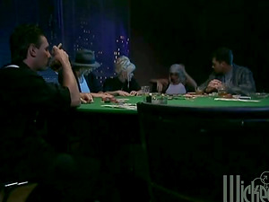 Three Girl/girl Sweethearts Have Group Fucky-fucky on a Poker Table