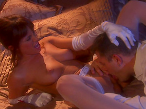 Hot Wedding Night for Kirsten Price! She Blows her Hubby and Squeezes those Tits!
