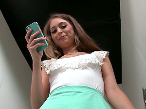 Riley Reid Flashes Her G-string and Natural Tits Backstage