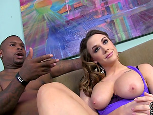 Interracial Duo Stringing up Out Naked Backstage