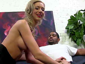 Kaylee Hilton has Large Nips and Talks While Jacking a Black Fellow!