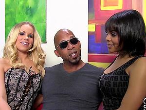 Milky Porn industry star Honey Sucking Big Black Jizz-shotgun