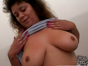 Chubby Fledgling with Big, Natural Tits Gets Her Vagina Toyed