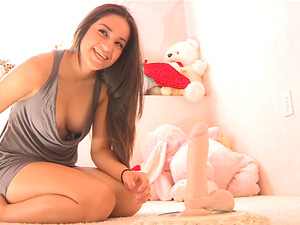 Supah Hot Marisol Has Joy with Playthings! No Way it Fits!
