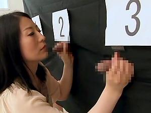Japanese Cougar Yells As Her Gloryhole Is Ravished