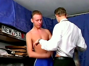 Spectacular Homosexual Dude In Briefs Getting His Dick Deep throated