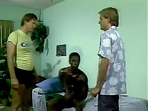 A Milky stud gets spanked and then fucked by a Black one