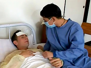 Two homosexuals have a wild ass fucking bang-out in a hospital