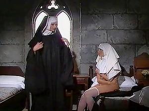 Hot Sapphic Nuns Playing Their Beavers