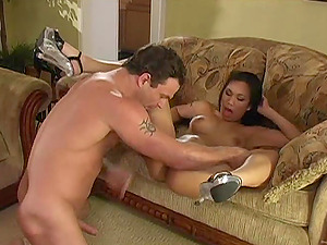 Lucy Thai gets her hairless Asian vagina fucked hard