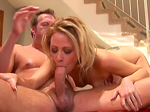 Lustful Sindee Jennings gets oiled up and banged on a couch