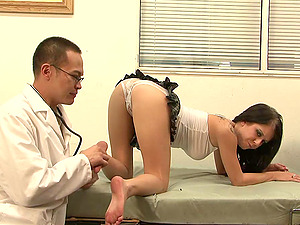 A medic has kinky rough hookup with a woman in his office