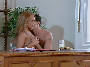 Pretty Tiffany Diamond gets fucked all over her office