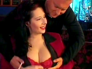 Big jugged Cougars get fucked rough cock-squeezing in a bar
