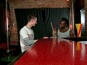 Black poofter and a youngster love some insane banging in a bar
