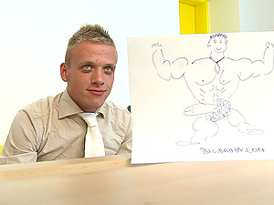 Polished Fag Gets It Xxx Doggystyle In The Office