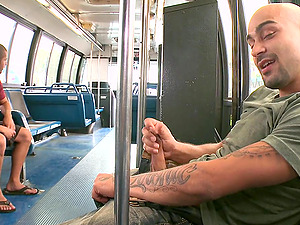 Fag Stud Gets A Hot Fellatio And Fucks In The City Bus