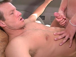 Cole Harvey and Dave Johnson make faggot love in the cowboy position