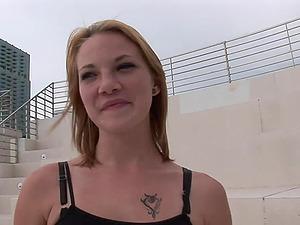 Hot Blonde Flashes Her Bum In Public