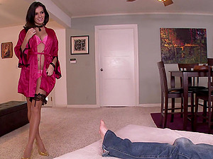 Nadia Capri gets her coochie fucked deep in foot worship flick