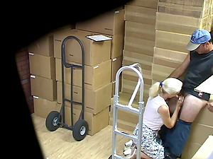 Captivating Blonde Providing Her Stud Fellatio In A Reality Shoot