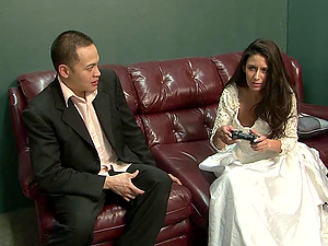 Gorgeous Youthfull Bride With Enormous Tits Lovin? A Mind-Blowing Threesome Fuck