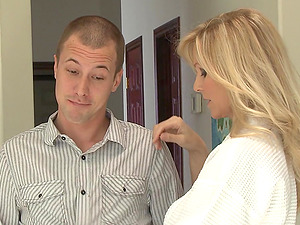 Beautiful, Blonde Cougar With Big Tits Liking A Gonzo, Missionary Style Fuck