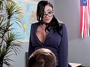 Sassy Tutor In Glasses Getting Banged Doggystyle