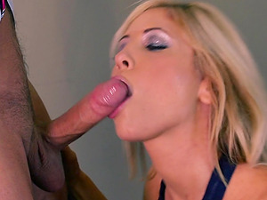 Captivating Blonde In High High-heeled shoes Getting A Deepthroat Feasting