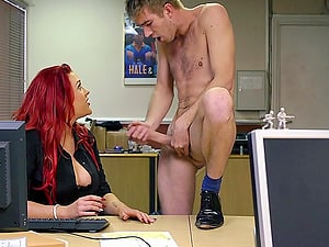 Ginger-haired Dame With Big Tits Yells While Being Smashed