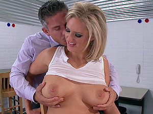 Zoey Holiday deep-throats a dick and gets her vag and butt banged from behind